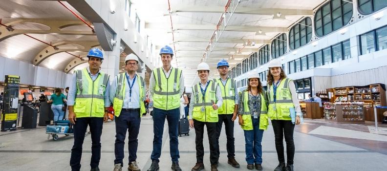 Secretário Glanzmann inspeciona melhorias no Aeroporto de Salvador